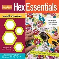 Fast2Cut Templates HexEssentials Small Viewers: 4-Piece Acrylic Hexagon Template Set: