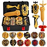 Christ For Givek Beyblade Burst Wrestling Masters Fusion Spinning Top Spinning Top Gyro and Launcher Plastic Speed XD168-21B Gold Version Toy and Gifts Interesting for Kids( BK)