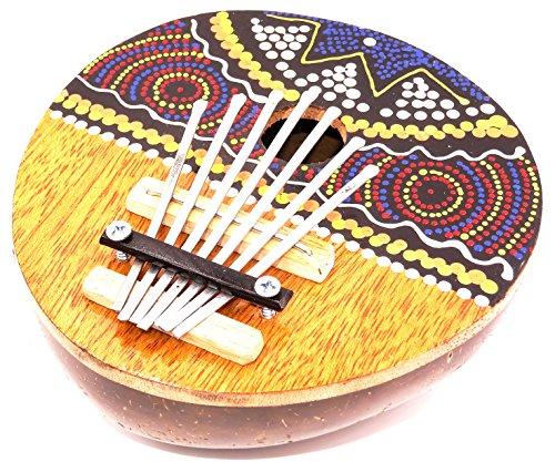 Karimba Kalimba Gitarre Piano für Daumen Kalimba Coco Instrument Musik Aboriginal ID Finger TUMB Piano Kalimba Coconut Handmade Musik-instrument-gitarre