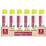 Borotalco, Deodorante Spray Active con Odor Converter, Più Sudi e Più Si Attiva, Profumo di Cedro e Lime, Giallo - 6…