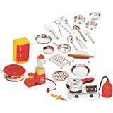 Negi 24pcs Mini Stainless Steel Utensils Non Toxic Indian Kitchen Set Great Kitchen Toys for Girls (Kid's Love Kitchen Set) (
