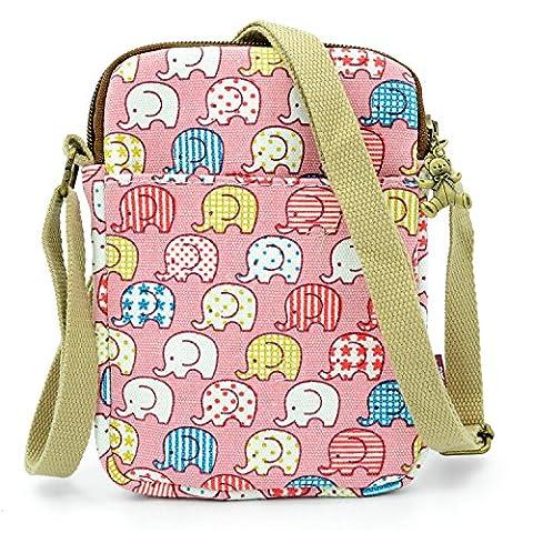 Mopaclle Mädchen klein Bezaubernd Umhängetasche Brieftasche Geldbeutel Handy Taschen für iphone 7 Plus,Samsung Galaxy S8 Plus (Papier Bag System)