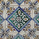 Orientalische Keramik Fliesen handbemalte marokkanische Motiv Fliese LEYS 10 x 10 cm