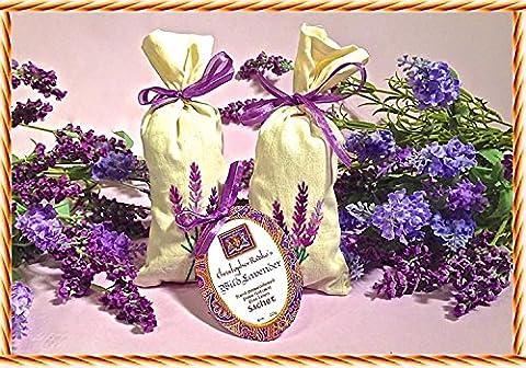 Christopher Radko's Hudson Organics Wild Lavender Bud Hand Embroidered Linen Sachet