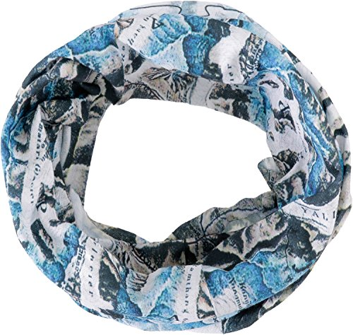 HAD COOLMAX Foulard Multifonctionnel, refroidissant et avec Filtre Solaire UPF 40+, Polyester, one size HAD COOLMAX Foulard Multifonctionnel refroidissant et avec Filtre Solaire UPF 40+ Himalaya, bleu/blanc, Polyester, one size