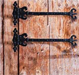 Antikas - Truhenbänder rustikal Kisten Antik Scharniere für Möbel, 2 Langbänder 50 cm