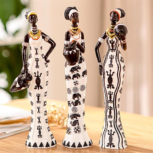 Modern Resin Statue Home Decor Art Africa National Custom Figures Set - Creative Sculpture Family Desk Ornaments Living House Room Cafeteria Bar Decoration Kids Gifts, B