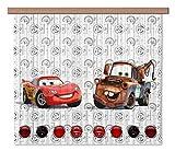 AG Design Gardine – Vorhang – Fotogardine - Kinderzimmer Disney Cars - 180 x 160 cm – 2 Teil - FCS XL 4368