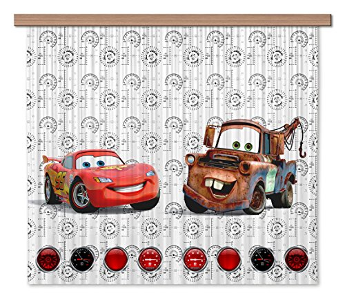 Ag design fcsxl 4368disney cars, tenda/tenda, 180x 160cm–2pezzi: 90x 160cm, plastica, multicolore, 0,1x 180x 160cm