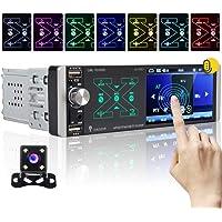 OiLiehu Autoradio Bluetooth Single Din Lecteur multimédia 4,1 Pouces avec Commande vocale Intelligente AI, AM/FM/RDS…