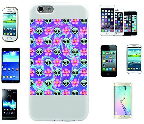 """Smartphone Case Apple IPhone 7 """"Alien und Blumen Im Happy Design"""", der wohl schönste Smartphone Schutz aller Zeiten."""