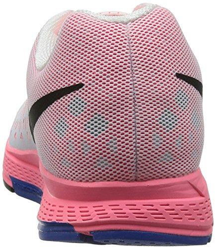Nike Air Zoom Pegasus 31, Chaussures de Running Entrainement Homme blanc (White/blck-hypr pnch-hypr cblt)