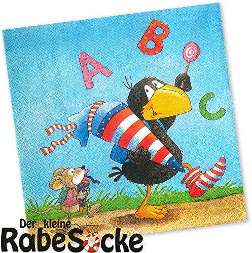 Preisvergleich Produktbild 20 Servietten * DER KLEINE RABE SOCKE * für Kinderparty und Kindergeburtstag von DH-Konzept // Napkins Papierservietten Party Set