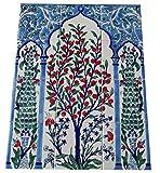Handbemalte Fliesen - Fliesenbild 45x60cm - Wandfliesen - Orientalische Fliesen - Mosaikfliesen - Keramikfliesen - Wandfliesen - Bodenfliesen