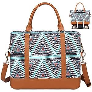 Bolso de Viaje Mujer de Mano Impermeable Bolso de Compras Grande Bolsa de Deporte Duffle Bag con Puerto USB para Weekender Señoras Compras, Viajes, Gimnasio, Citas (Azul)