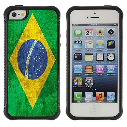 Graphic4You Vintage Uralt Flagge Von Dominikanische Republik Design Harte Hülle Case Tasche Schutzhülle für Apple iPhone 5 und 5S Drapeau Brésilien Brésil