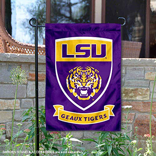 College Flags and Banners Co. Louisiana State LSU Tigers Shield Garten Flagge