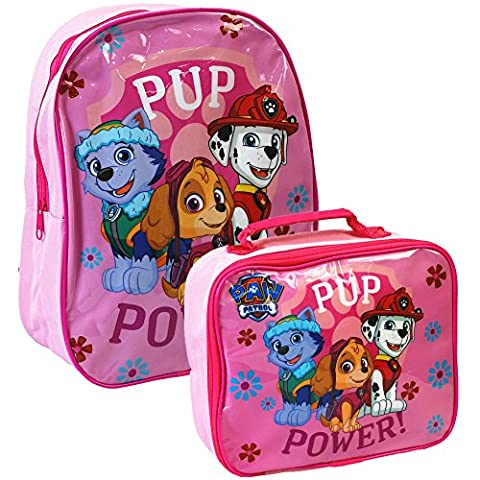 Nickelodeon® Paw Patrol Official Kids Children School Travel Rucksack Backpack Bag and Lunch Bag Set