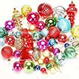 Christmas Tree Decoration Ball Electroplating Baubles Balls Onaments for Garden Outdoor Christmas Party Wedding Decoration 48pcs Random Delivery