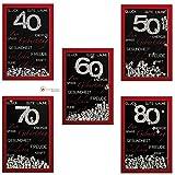 Glückwunschkarte SHAKE-Card Geburtstagskarte zum 40, 50, 60, 70, 80 Geburtstag 55-1013 Farbe 50 Geburtstag