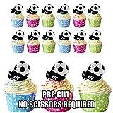 Fußball und Fußballschuh Party Pack Cup Cake Topper, essbar Stand Up Dekorationen, 12