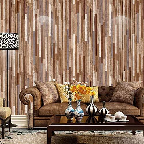 Preisvergleich Produktbild yhyxll Holzmasertapetenfarbholzmaserkleidungsshopcaférestaurant-Hintergrundwandpapier