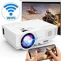 [Projecteur WiFi] Projecteur sans Fil 5000 Lumens, Mini Projecteur Vidéo 1080P Full HD Pris en Charge Compatible avec Smartphone, Tablette, clé TV, Lecteur de Jeu, USB, TF pour Cinéma Maison.