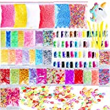 Slime Supplies Kit, Outee 91 paquetes Diy Slime Kit incluyen Bolas de espuma, Fishbowl Beads, Glitter Jars, Fruit Slices, Rainbow Pearl, Shell, letras Lentejuelas, Slime Tools