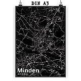Mr. & Mrs. Panda Poster DIN A3 Stadt Minden Stadt Black -