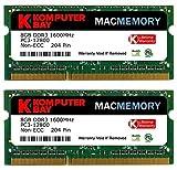 Komputerbay MACMEMORY 16GB (2x8GB) PC3-12800 1600MHz SODIMM 204-Pin Laptop-Speicher 10-10-10-27 für Apple Mac