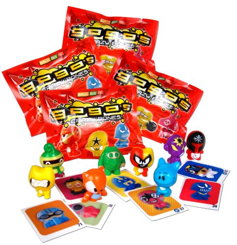 GoGo's Crazy Bones - Series 1 - (4 Packs of 3 Pieces) by GoGo's Crazy Bones (Crazy Bones-serie 4)