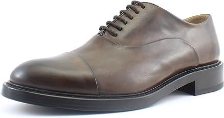 Giorgio Rea Herrenschuhe Schnürhalbschuhe Echtes Leder, Handgefertigt in Italien Braun, EU-Größe 40 41 42 43 44 45