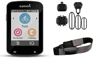 Garmin Edge 820 - Pack Avec Ceinture Cardio + Capteur de Cadence et Vitesse + Compteur GPS de vélo - Ecran couleur tactile 2,3'' - Fonction GroupTrack - Noir