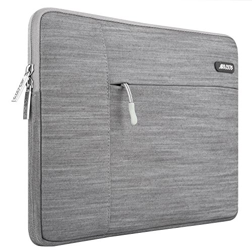 MOSISO Laptophülle für 11-11,6 Zoll MacBook Air, Ultrabook Netbook Tablette, Denim Gewebe Schutzhülle Sleeve Hülle Tasche Laptoptasche Notebooktasche, Grau
