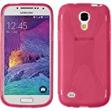 PhoneNatic Case kompatibel mit Samsung Galaxy S4 Mini Plus I9195 - pink Silikon Hülle X-Style + 2 Schutzfolien