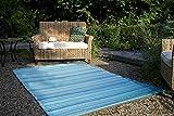 Fab Hab - Cancun - Türkis & Moosgrün - Teppich/ Matte für den Innen- und Außenbereich (90 cm x 150 cm)