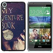 Graphic4You My Adventure Book Diseño Carcasa Funda Rigida para HTC Desire 820