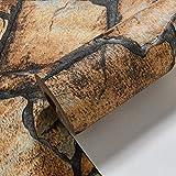 XPY-Wallpaper Retro- Retro- Friseursalon-Ziegelsteintapete des Hintergrundes 3D chinesische Bekleidungsgeschäft-Speicherziegelsteinantike-Kulturziegelsteintapete, Gelb