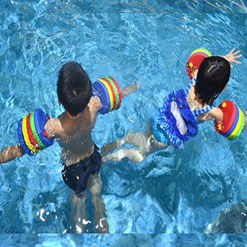 GZQ 6 pcs Manguitos de Natación para Niños  Discos Flotantes Flotador de Brazo de Espuma EVA para Bebé