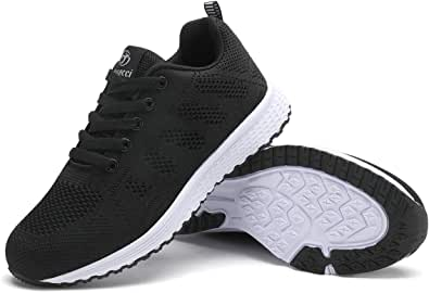 Youecci Women Lightweight Walking Shoes Ladies Lace Up Sneakers Mesh Go Running Trainers Low Top Breathable Athletic Walk Gym Shoes Sport Run