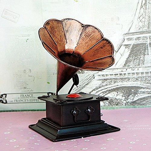 LLL-Antiguo vintage tocadiscos antiguo fonógrafo modelo alto grado decoración de los muebles , wine red
