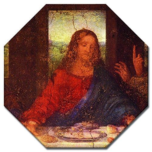 (Bilderdepot24 Kunstdruck - Alte Meister - Leonardo da Vinci - Das Abendmahl - Jesus Detail - Achteck 60x60 cm - Leinwandbilder - Bild auf Leinwand)