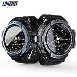 LOKMAT Sport Smart Watch Professionelle 5 ATM Wasserdicht Bluetooth Anruferinnerung Digital Herren Uhr Smartwatch für iOS und Android (schwarz)