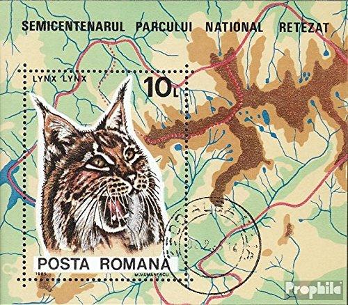 Prophila Collection Rumänien Block218 (kompl.Ausg.) 1985 Luchs (Briefmarken für Sammler) Katzen