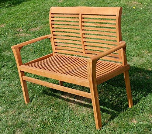 TEAK Design Gartenbank Parkbank Sitzbank 2-Sitzer Bank Gartenmöbel Holz sehr robust Modell: ALPEN120 von AS-S - 7