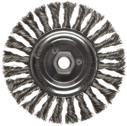 Weiler Dualife Standard Wire Wheel Brush, Threaded Hole, Steel, Partial Twist Knotted, 6