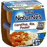 Nestlé Naturnes carottes riz poulet 2x200g dès 6 mois - ( Prix Unitaire ) - Envoi Rapide Et Soignée
