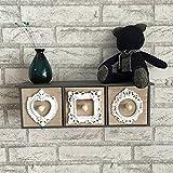 MENA HOME/ Europäische geschnitzte Dekoration-Wand-Aufbewahrungsbehälter-Fach-Regal-Blumen-Feld-Kaffee-Geschäft-Blumen-Standplatz