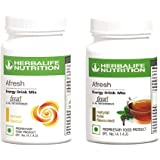 Herbalife 2 Afresh Energy Drink Mix | Lemon and Tulsi Flavor | Each 50 GM Men and Women in Pack of 2