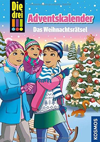 Produktbild bei Amazon - Die drei !!!, Das Weihnachtsrätsel: Adventskalenderbuch mit Extra: Geschenkpapier